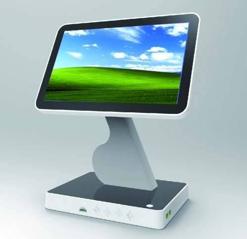 LENVII LV-V7S POS Touch Screen, 15.6 Inches Wide Screen with LED Display, Capacitive Touch, White