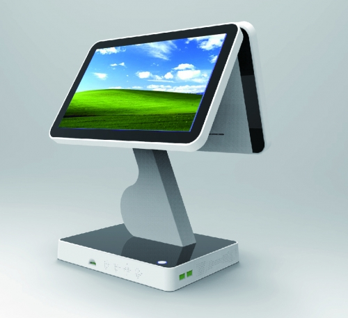 LENVII LV-V7D POS Touch Screen, 15.6 Inches Wide Screen with 15.6 Inches Display, Capacitive Touch, White