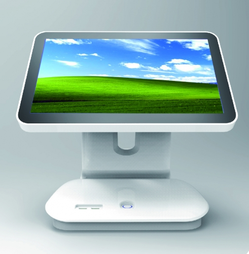 LENVII LV-N8S POS Touch Screen, 15.6 Inches Wide Screen with LED Display, Capacitive Touch, White