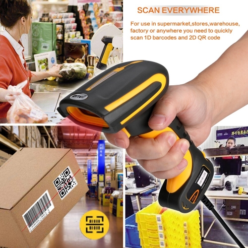 2D Barcode Scanner HD Industrial QR-Code High Density,Waterproof Anti-Shock Construct Bar Code Reader, Industry 4.0 Barcode Scanner | LENVII I200