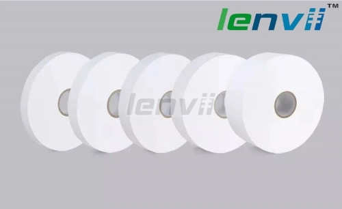 LENVII Blank Roll for Printing Wash Care Labels, Polyester Paper Fabric Material, Wash Label, Care Label