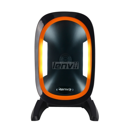 2D Desktop Barcode Scanner, Omnidirectional Hands-Free USB Wired Barcode Reader, Capture Barcodes from Mobile Phone Screen | LENVII D2200