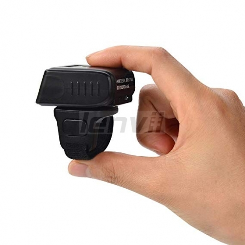 Smallest Barcode Scanner Wireless and 1D 2D Printed Barcode Reader Mini Pocket Size Handheld Barcode Scanner Compact with Rapid | LENVII R200
