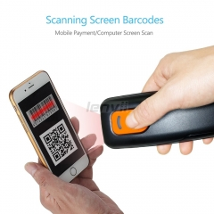 Mini 1D Wireless Barcode Scanner,Compatible with Bluetooth Function & 2.4GHz Wireless & Wired Connection, Portable Barcode Reader | LENVII P100