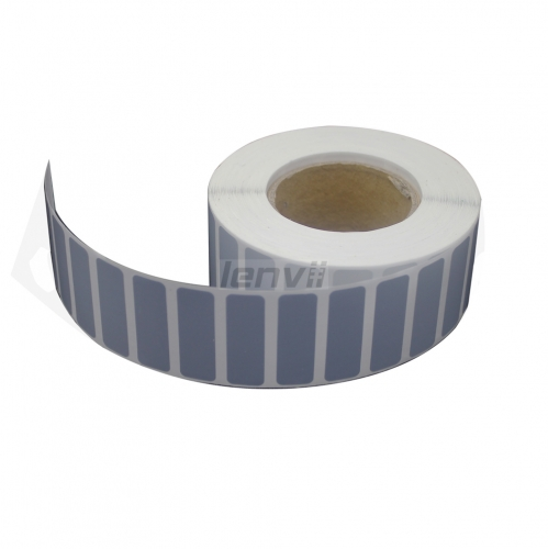 Silver PVC Bar code Label non-shreddable Need Resin Ribbon Customize any Size The following are common sizes