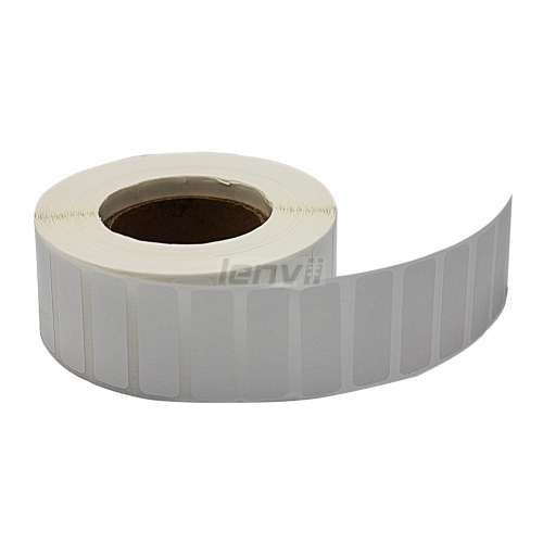 Bright PVC Bar code Label Non-shreddable Need Resin Ribbon Customize any Size. The Following are common sizes