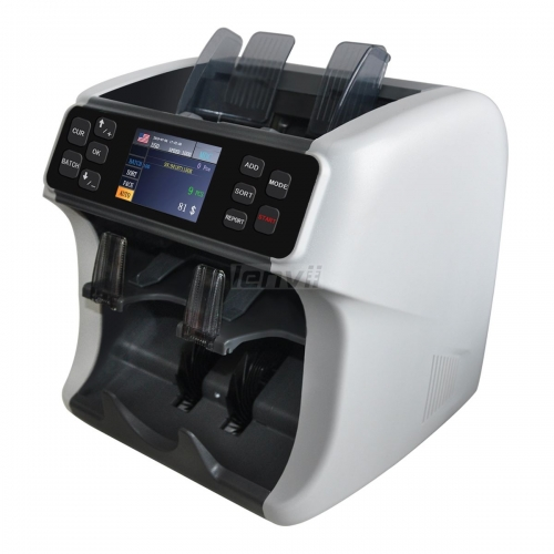 LENVII LV-700 Foreign currency clearing machine,checking-counting-clearing 3 in 1 Professional bank type A cash register