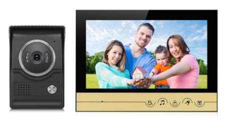 Video Doorbell Building Intercom, Video Intercom, Intercom Doorbell, Video Door Phone for Color 9 Inch | V90R-L Golden