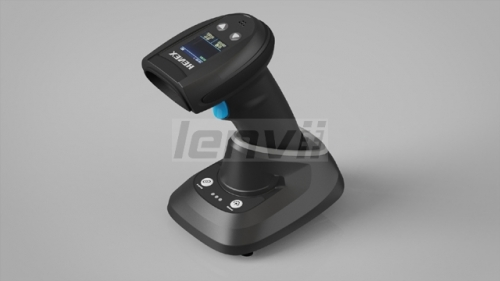 HENEX HC-5208R Wireless Barcode Scanner With Screen QR Bluetooth Barcode Reader Supports Reading 1D 2D Barcodes With Storage Function