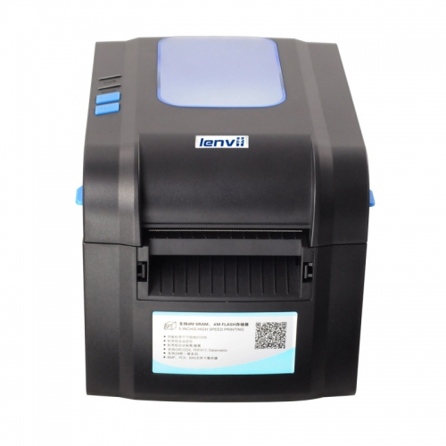 3in/80mm Thermal Label Printer with Automatic Peele USB or Bluetooth High Speed | LENVII 390