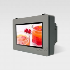 Wall mount landscape round corner outdoor lcd monitor