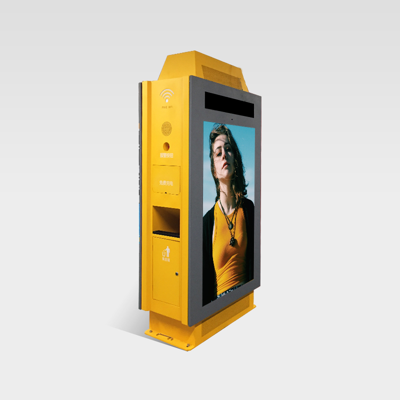 Double sided Outdoor Digital Signage with Recycling bin SOS button