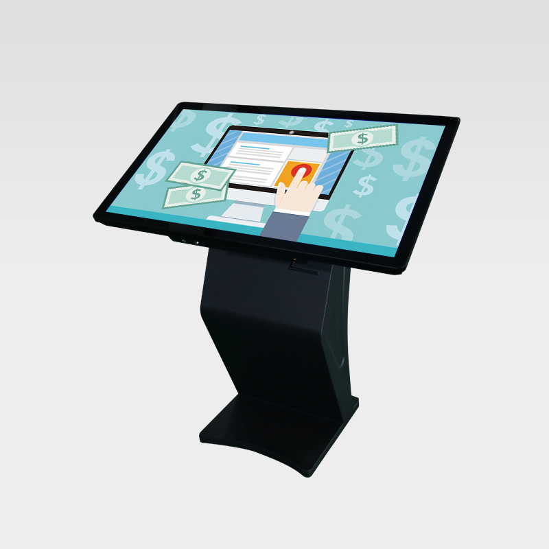 Black color K-style touch screen kiosk