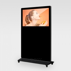 Portable Landscape Digital Signage with Wheels