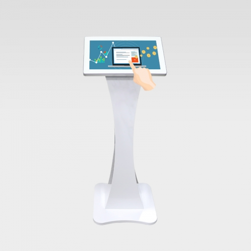 Floor stand small size information touch screen kiosk