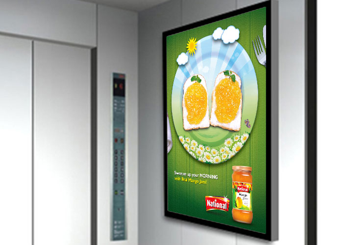 Why more and more elevator adopting DDW wall mounted advertising display?