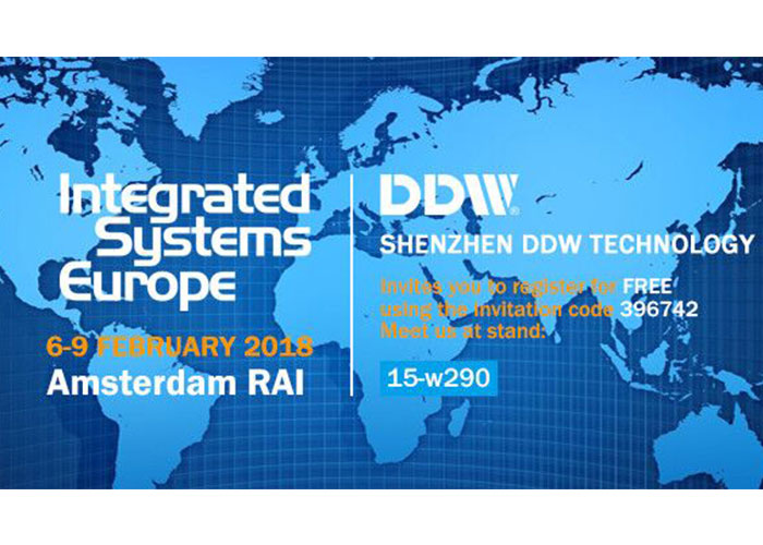 DDW invites you to meet in ISE2018 Booth# 15-w290
