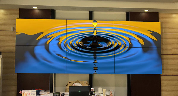 Samsung project——2x3 55inch 1.7mm LCD video wall