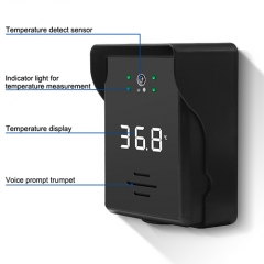 Automatic body temperature scanner
