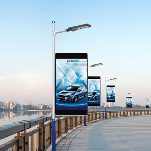 Outdoor Pole LED Screen for Street Light Advertising