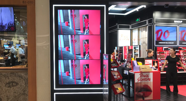 Samsung 65 inch 3.5mm 700 ints lcd video wall for Cosmetics store