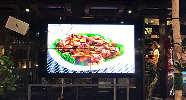 2x2 Samsung 46 inch 3.5mm video wall screen for restaurant