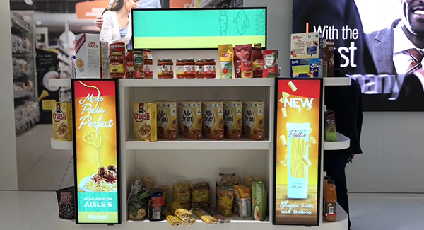 49.5 inch Streched LCD Displays For Supermarket