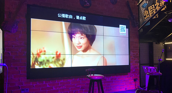 LG 55 inch 3.5mm 500 ints video wall display for music restaurant