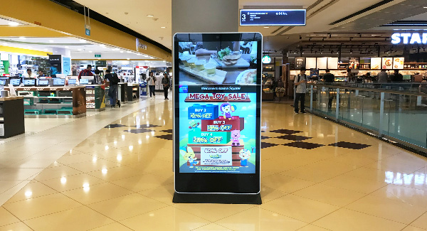 65 inch Floor Standing LCD Digital Signage for Shopping mall