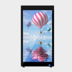 L Shape Indoor Battery Advertising Board Digital Signage