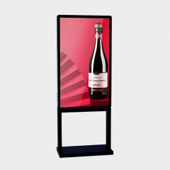 IP66 floor stand ultra thin outdoor digital signage