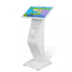 21.5 inch K Shaped Information Touch Screen Kiosk with Thermal Printer