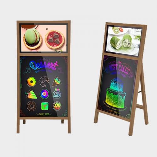 Portable Digital Signage with Writing Board