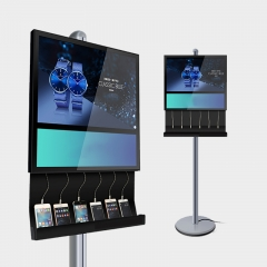 Dual Screen Wired Charging Station Digital Signage
