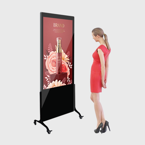 Indoor Rollers LCD Advertising Digital Signage