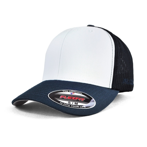 6511W FLEXFIT® TRUCKER MESH CAP – WHITE FRONT PANELS