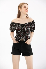 womens floral top summer short blouse short sleeve casual shirt ,summer blouse top