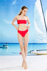 ladies two pieces swim suit red bathing set suit 2 pieces swim wear tirangle bottom nikini suit