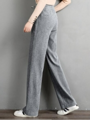 Womens straight pants baggy slim pants corduroy pants