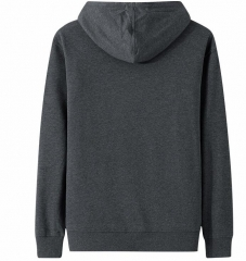 Mens cotton knitted long sleeve sweater hoodie pullover
