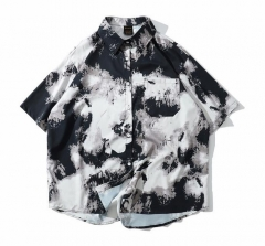 Mens Rayon 3D digital printed Hawaii shirts