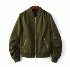 Womens nylon light bomber jacket coat