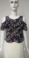 Ladies Rayon Crepe Print Top