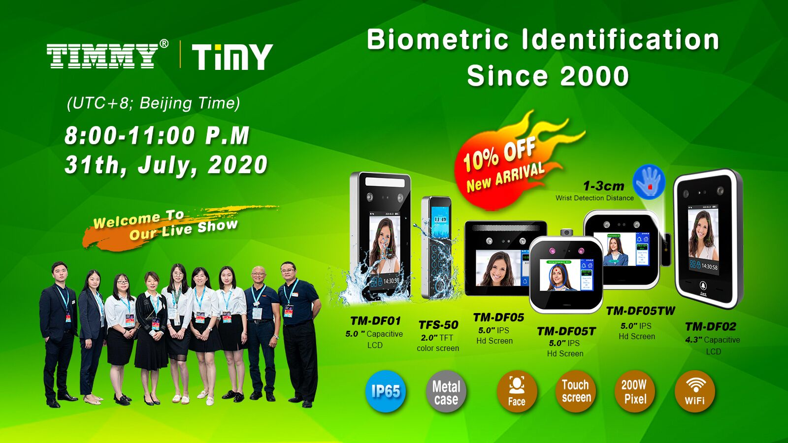 20+ Years Factory, Biometric Time Attendance Access Control