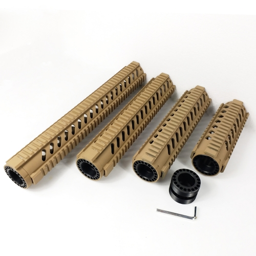 7,10,12,15 inch Free Float Quad Rail Handguards Tan color