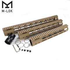10/12/15 InchFree float M-Lok Handguard Picatinny Rail Mount System Fits .223/5.56 (AR15) Tan Color