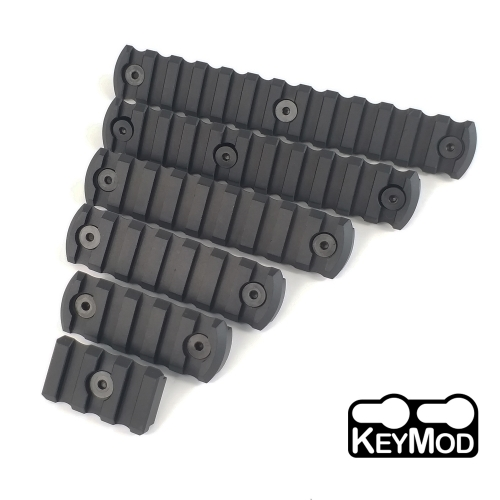 3,5,7,9,11,13 slot CNC Aluminum Picatinny Rail Section For Keymod Handguards Balck color