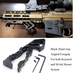 Angled Front Hand stop Compatible with KeyMod and M-LOK Handguards system