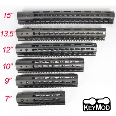 7/9/10/12/13.5/15 Inch Free Float Keymod Handguard Rail Mount System For .223/5.56(AR15) Black Color