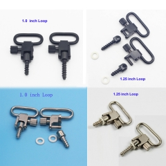 1.0/1.25 inch Quick Release Rifle/Gun Sling Mounting Kit Swivels Set with Studs/Screw (2pcs pack)
